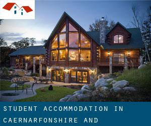 Student Accommodation in Caernarfonshire and Merionethshire